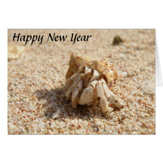 Happy New Year Crab Card