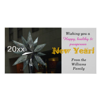 Happy New Year Crystal Star Card Picture Card