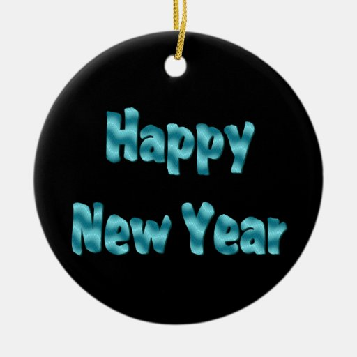 Happy New Year Christmas Tree Ornaments