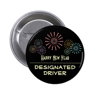 Happy New Year Designated Driver Buttons