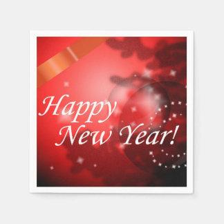 Happy New Year Disposable Serviette