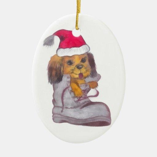 Happy New Year Dog Ornaments