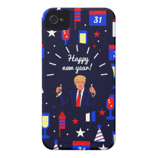 happy new year donald trump Case-Mate iPhone 4 case