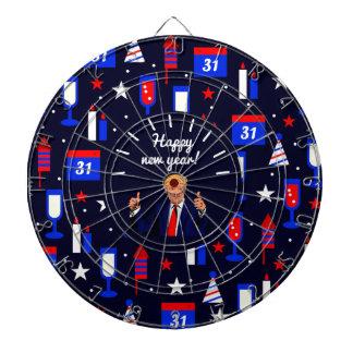 happy new year donald trump dart board