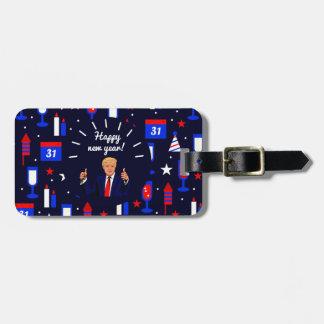 happy new year donald trump luggage tag