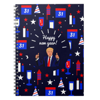 happy new year donald trump notebook