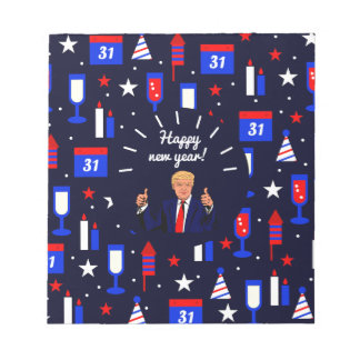 happy new year donald trump notepads