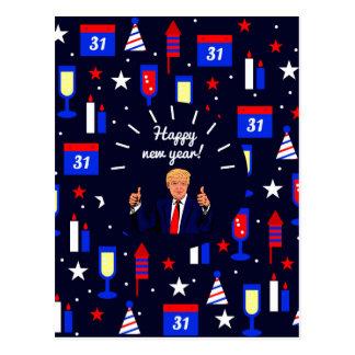 happy new year donald trump postcard