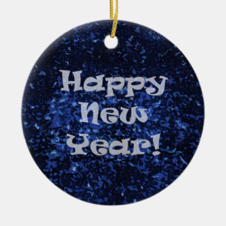 Happy New Year! double-sided Round Ceramic Decoration