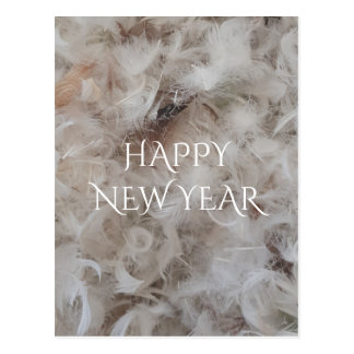 Happy New Year Down Comforter Feathers Photography Postcard