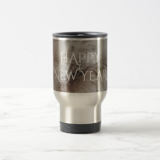 Happy New Year Down Comforter Feathers Photography Travel Mug