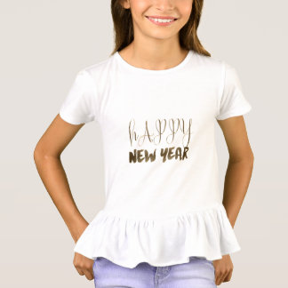 Happy New Year Elegant Text Gold Typography T-Shirt