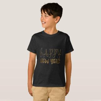 Happy New Year Elegant Text Gold Typography T-Shirt