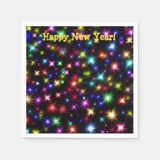 Happy New Year festive fireworks cocktail napkins Paper Napkin