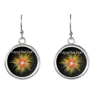 Happy New Year Firework Earrings