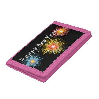 Happy New Year Firework Tri-fold Wallets
