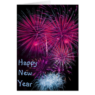 Happy New Year Fireworks Card