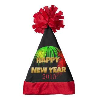 Happy New Year Fireworks Santa Hat