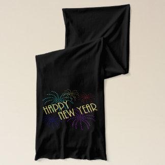 Happy New Year Fireworks Scarf