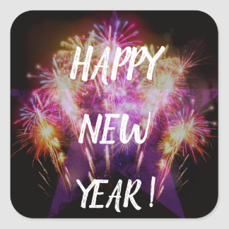 Happy New Year, Fireworks Sticker