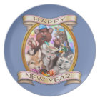 Happy New Year - Frieda Tails collectable plate