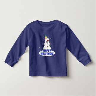 Happy New Year from the Celebrating Snowman Toddler T-Shirt