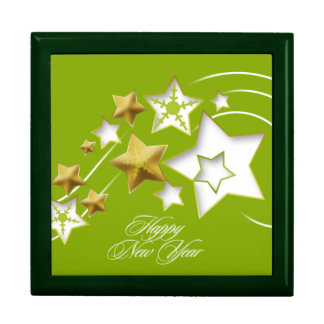Happy New Year - Large Square Gift Box