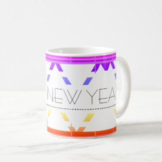 happy new year gift rainbow mug