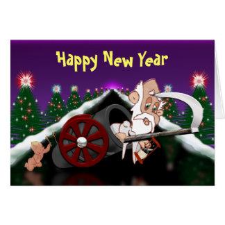 Happy New Year Go Boom Card