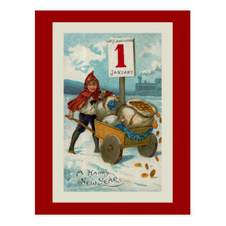 """Happy New Year"" Greeting Card Postcard"