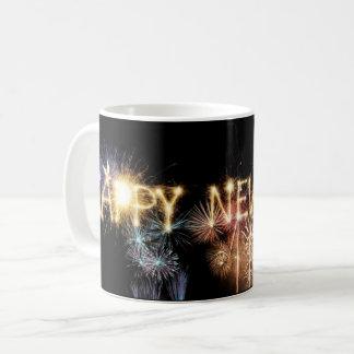 Happy New Year Holiday Fireworks Celebration Mug