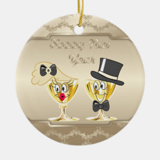 Happy New Year Holiday ornament
