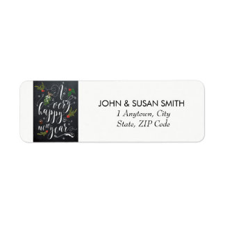 happy new year holiday return address labels