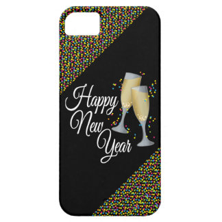 Happy New Year I Champagne Glasses Barely There iPhone 5 Case