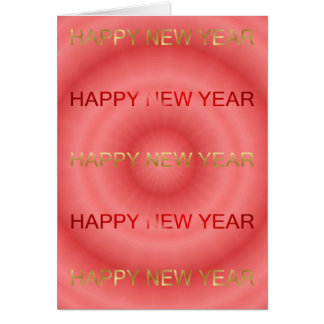 HAPPY NEW YEAR IN ENGLISH GREETING CARD