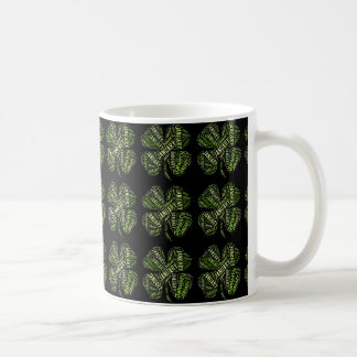 Happy New Year January Good Luck Clovers Lucky Mug