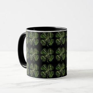 Happy New Year January Good Luck Clovers Lucky Mug