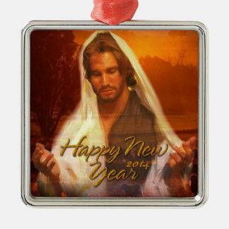 Happy New Year Jesus Ornament 2014