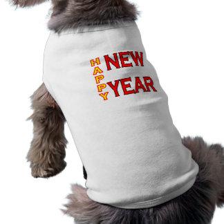 Happy New Year jGibney Green-Red Doggie Tshirt