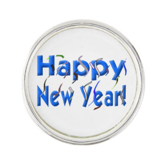 Happy New Year Lapel Pin