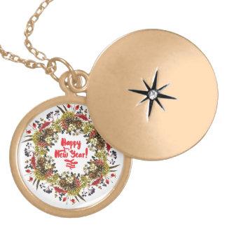 Happy New Year Locket Necklace