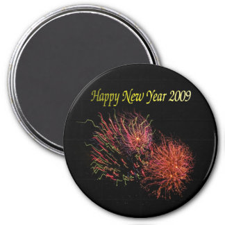 Happy New Year 7.5 Cm Round Magnet