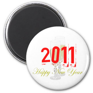 Happy New Year Magnet Template