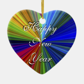 Happy New Year - Merry Christmas Heart Ornament