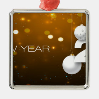 Happy-New-Year Metal Ornament