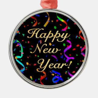 """Happy New Year!"" Metal Ornament"