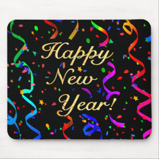 """Happy New Year!"" mousepad"