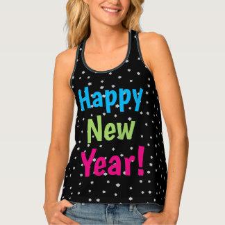 Happy New Year Night Stars Festive Design Singlet