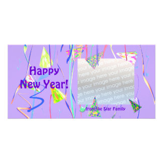 Happy New Year Party Hats Picture Card