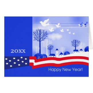 Happy New Year. Patriotic Design Cards